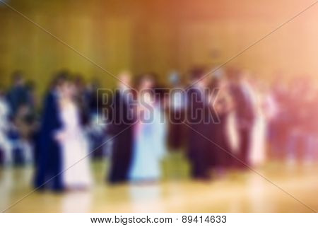 Ballroom dance competition blur background