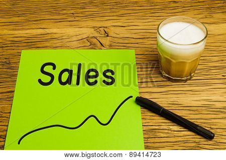 Sales Graph Green Paper