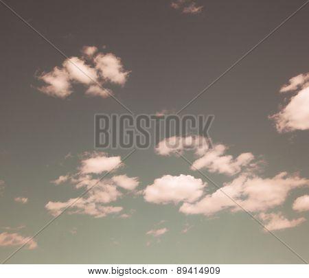 Instagram filtered image of pastel cloud background