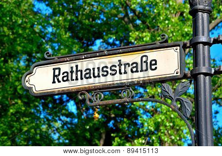 Signpost in Berlin.