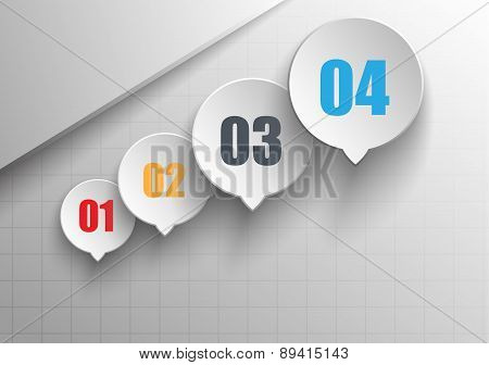 Business infographics abstract circles with the growth of your data indicators.