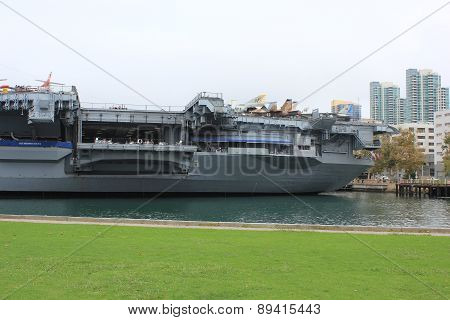 Uss Midway Museum Boat In San Diego