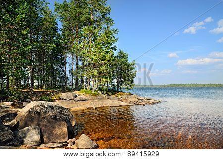 Lake Engozero, North Karelia, Russia