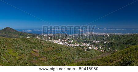Gran Canaria, Panoramic View Of Teror