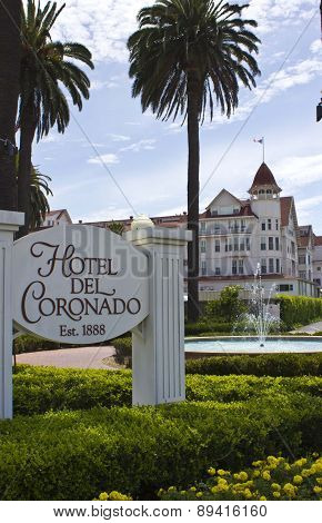 Close Up Of The Entrance Of Historic Coronado Hotel