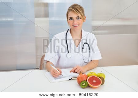 Female Dietician In Clinic