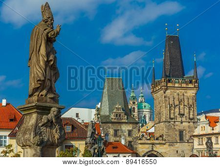 Adalbert of Prague on Charles Bridge, Czechia