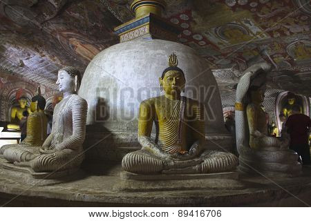 Dambulla Caves Buddhas and Stupa