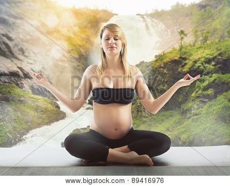 Pregnant yoga relax
