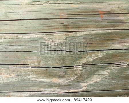 Close Up Of Green Tint Wooden Planks