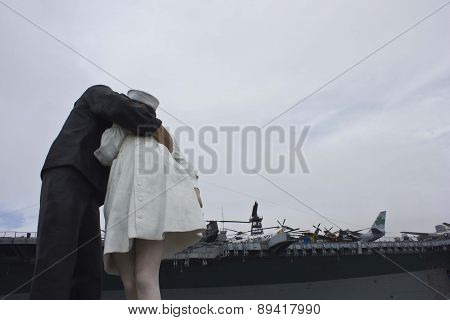 Unconditional Surrender Sculpture from the back