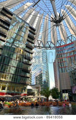 The Sony Center On Potsdamer Platz in Berlin.