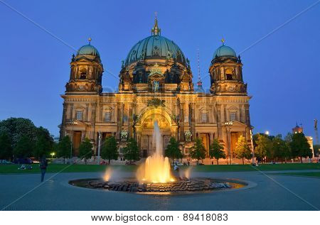 Berliner Dom Cathedral Church In Berlin, Germany.