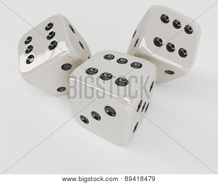3D Render of Dice