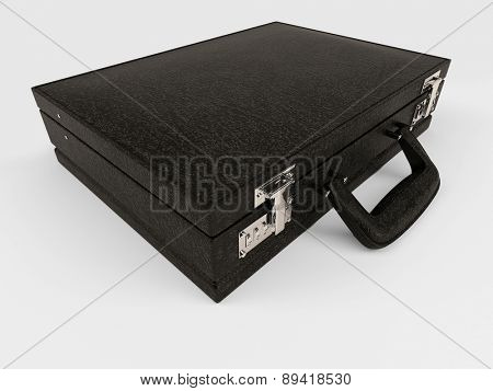 3D Render of Isolated Briefcase on white