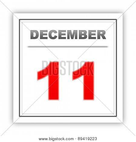 December 11. Day on the calendar. 3d