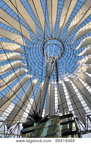 Berlin, Germany - April 30, 2014: The Sony Center On Potsdamer Platz in Berllin.