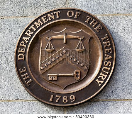 Present Seal Sign Symbol Us Treasury Department Washington Dc