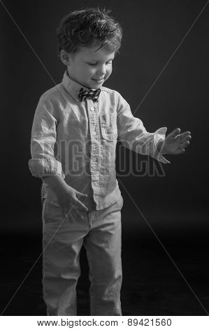 Young Boy Doing Robot Dance