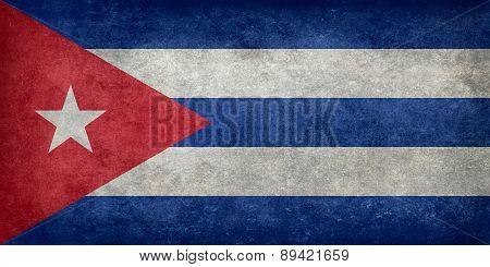 National flag Of Cuba, vintage version