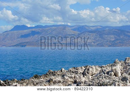 Landscape with sea and mountains