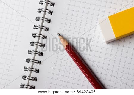 Notepad Pencil and Eraser