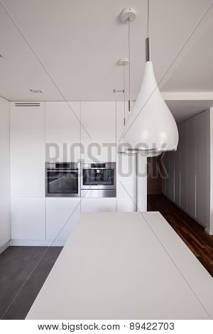 White Countertop And Kitchen Unit