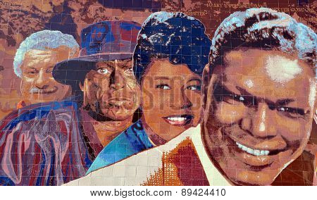 Hollywood Jazz 1945-1972 mural