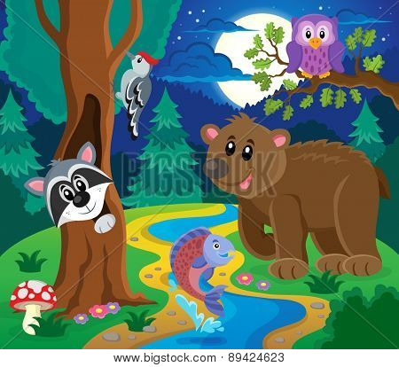 Forest animals topic image 6 - eps10 vector illustration.