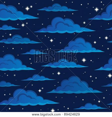 Night sky seamless background 2 - eps10 vector illustration.