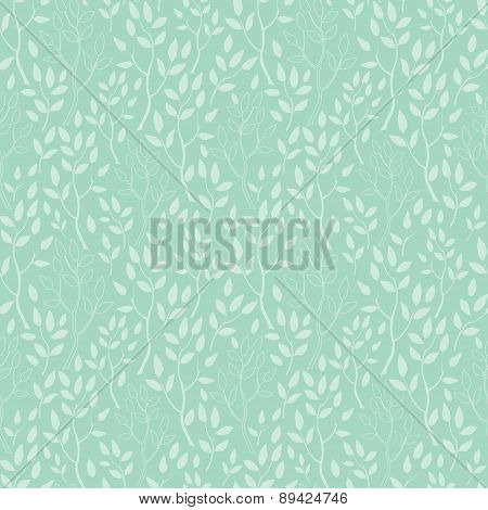 Vector green trees texture seamless pattern background
