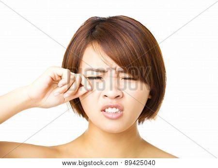 Closeup   Young Woman  Crying