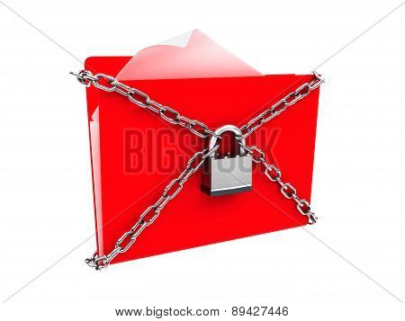Security protection of files, or confidential files concept