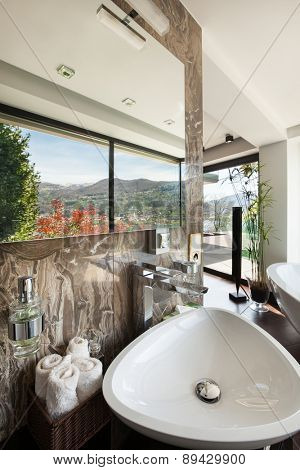 architecture, modern house, beautiful interiors, bathroom