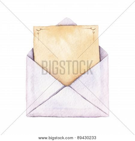 Envelope With A Letter