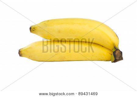 Closed Up Banana On White