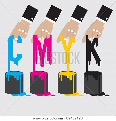 Cmyk - Cyan Magenta Yellow And Black The Offset Printing Color System.