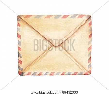 Watercolor Envelope