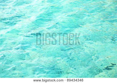 Clear ocean water, in resort