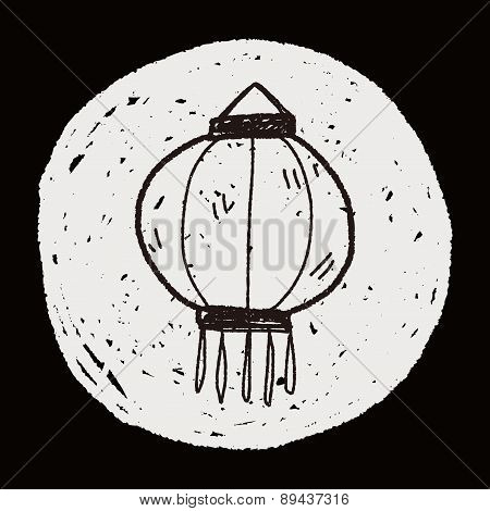 Chinese New Year; Chinese Decorative Lantern Doodle