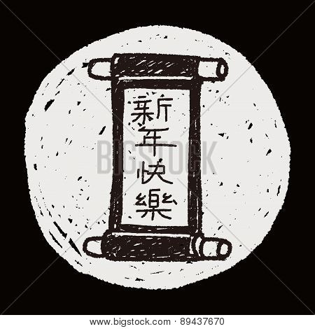 Chinese New Year; Chinese Words Calligraphy Scrolls Means