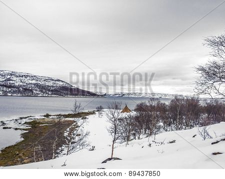 Landscape In Norway Under Snow