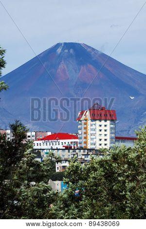 Summer View Of Petropavlovsk-Kamchatsky City And Avacha Volcano. Far East, Russia