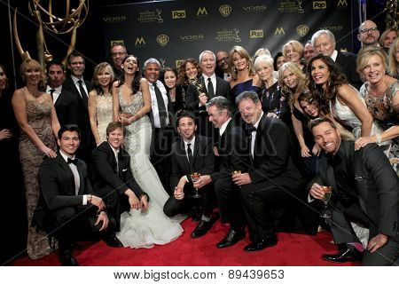 LOS ANGELES - APR 26:  Days of Our Lives Cast - Co-Winner, Best Drama at the 2015 Daytime Emmy Awards at the Warner Brothers Studio Lot on April 26, 2015 in Burbank, CA