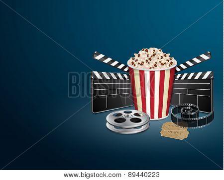 Filmstrip with vintage ticket