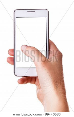 Using A White Mobile Phone