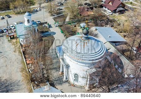 Church of All Sacred in Tyumen. Russia