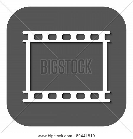 The Film Icon. Film Symbol. Flat