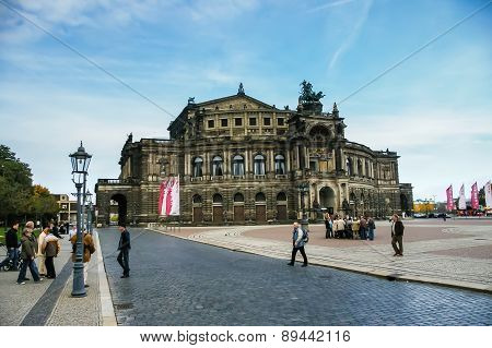 View On Opera House In Dresden, Germany