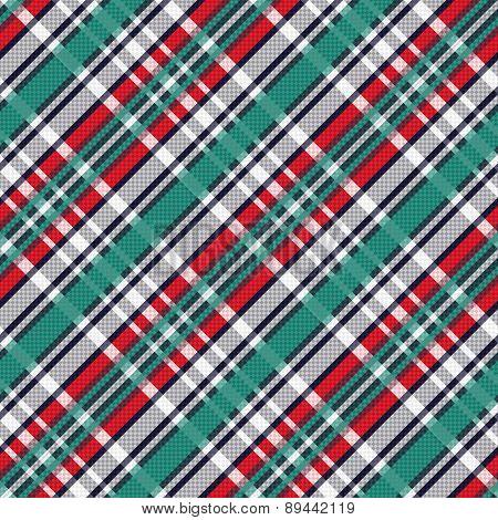 Diagonal Tartan Seamless Texture